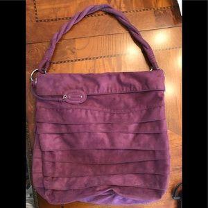 Nine West purple suede handbag.
